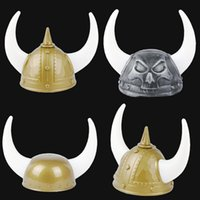 Hot selling Halloween Party Supplies Pirate Hat Viking Warrior Helmet Hat Cosplay Halloween Party Hats With Horns For Costume Accessory