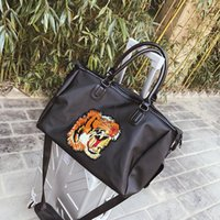 Wholesale Alligator Heads - 2018 luxury designer tiger head Outdoor girl women Sport Gym Fitness Training Shoulder handbags Travel excursion backpack package 180126021