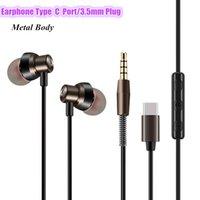 nota de audio al por mayor-Tipo C Auriculares intrauditivos Audio digital 5D Auriculares HiFi para Xiaomi Note 3 / Smartisan Pro Nubia Z17 Tipo-c Teléfonos con puerto Auriculares DHL gratis