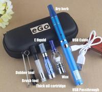 ce4 воск оптовых-Vape Dry Herb Vaporizer 4 в 1 UGO для начинающих с CE4 Wax Pen стеклянный шарик CE3 бак vape ecig 1100 мАч evod аккумулятор