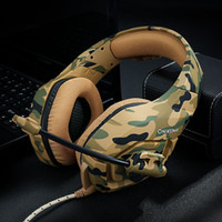 Wholesale used headphones resale online - It s good when used ONIKUMA K1 Casque Camouflage PS4 Xbox One Headset Mic Stereo Gaming Headphones for Cell Phone Laptop PC