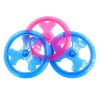 Wholesale plastic flying frisbee - TPR Luminous Frisbee Dog Toy Flying Disk Shape Puppy Training Throwing Toys Pink Blue 10 2hz Z R