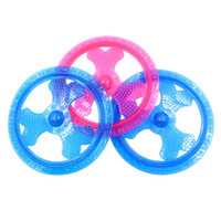 cachorro rosa al por mayor-TPR Luminous Frisbee Dog Toy Flying Disk Shape Puppy Training Lanzar Juguetes Pink Blue 10 2hz Z R