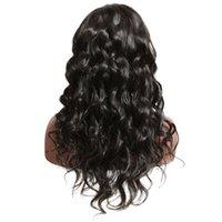 ingrosso bambino pieno della parrucca del merletto-Parrucca frontale in pizzo 360 capelli umani con capelli per bambini Parrucca anteriore in pizzo sciolto Malese ondulato Remy Parrucca per le donne Full End