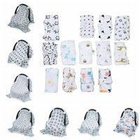 Wholesale Pram Covers - Baby Car Seat Canopy Ins Stroller Cover Shopping Cart Cover Nursing Covers Case Pram Travel By Covering Stroller Accessories KKA5099
