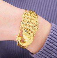 vergoldeten pfau armbänder großhandel-pfau 24 Karat MESSING PLATTE echtes GOLD armband weibliche vergoldete öffnung nachahmung gold Vietnamesisch armband verlängerung der kette