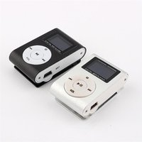 Wholesale card voice recorder - MP3 Music Player LCD Screen Mini Recorder Slim Mp3 Player Support Micro TF Card Slot 2 4 8 16 32GB