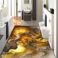 duvar resmi duvar kağıdı toptan satış-3D Döşeme Duvar Kağıdı Modern Kişilik Soyut bulutlar 3D Yer Karoları Yatak Odası Banyo PVC Kendinden Yapışkanlı Su Geçirmez 3 D Mural