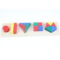 Wholesale Preschool Development - Baby Toy Educational Wooden Toy One Set Geometric Cylinder Development Sensorial Early Childhood Education Preschool