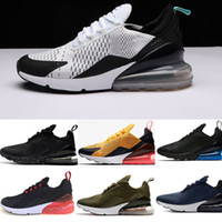 Wholesale size 45 mens shoes - Wholesale high quality Mens Triple Black 270 AH8050 Trainer Sports Running Shoes Flair Sneakers Size 40-45