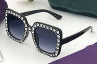 große schwarze modebrille großhandel-neueste BIG FRAME Strand Brille Diamant für Frauen Herrenmode Sonnenbrille Fahren Gläser Wind Coole Sonnenbrille SCHWARZE Sonnenbrille geben Schiff frei