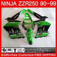 Wholesale new fairings kawasaki ninja online - Fairing For KAWASAKI NINJA ZZR250 ZZR HM ZZR new Bodywork kit green black