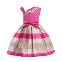 amerikanische prinzessin kleider für kleinkinder großhandel-Baby Prinzessin Kleid Kinder Streifen Sleeveless Party Kleider Für Kleinkind Kinder European American Fashion Kleidung Halloween Kleider