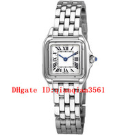 çelik bilezikler için bilezikler toptan satış-Marka Yeni WSPN0006 Beyaz Dial Japonya Kuvars Womens İzle Gümüş Durumda Paslanmaz Çelik Bilezik Safir Moda Cam Bayan Saatler