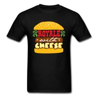 los mejores quesos al por mayor-Royale Con Queso Camiseta Para Hombres Hamburguesa Camiseta Camiseta de Dibujos Animados 100% Tela de Algodón Ropa de Verano 2018 Nuevas Camisetas Top Divertidas