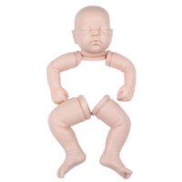 Wholesale real body toy resale online - 19 Inch Lifelike Reborn Babies doll Mold Accessories Toy DIY Handmade Real Full Body Silicone Doll Without Clothes Birthday Gift