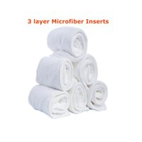 Wholesale diaper reuseable for sale - Group buy Hot Sale Microfiber Insert Washable Reuseable Nappy Inserts Microfiber Layers Easy Use Soft And Breathable Baby Diaper Insert