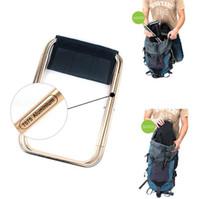 chaises pliantes de sac extérieures achat en gros de-Chaise de pêche en plein air Portable pliant sac à dos camping en alliage d'aluminium pliable chaise de pêche de pique-nique avec sac accessoires de pêche OOA5043