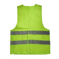 Wholesale yellow reflective vest - XL-3XL Plus Size Reflective Vest Car Working Clothes Provides High Visibility Day Night For Running Cycling Warning Safety Vest