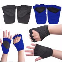manchettes noires longues achat en gros de-Gants de sport pour les hommes d'entraînement de musculation exercice palme gant sans doigts livraison gratuite été faire du sport