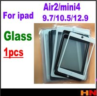 ipad mini lentes venda por atacado-1 Pcs Tela LCD Frente Outer Lente De Vidro para Tablet PC para iPad 6 Ar 2 mini 4 9.7 10.5 12.9 polegada Repair Plate preto branco