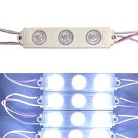 parlak su geçirmez led şeritler toptan satış-AC 110 V 2835 LED Modülü Işık Şeridi Lambası 3 LEDs SMD Süper Parlak Enjeksiyon Kalıplama ABS Su Geçirmez reklam için burcu