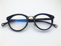 1594ea0a0af New retro round shape women men full rim acetate Spectacle frame with  rhinestone Myopia Designer Glasses prescription clear lens eyeglass