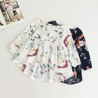 Wholesale Doll Boat - Kids Girl dress New fashion Children's printed sweet long sleeve doll shirt children's clothing wholesale good quality