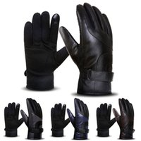 Wholesale windproof gloves for touch screen resale online - Windproof Non slip Touch Screen for Men Women Winter Warm Keeping Snowboarding Snowmobile Ski Outdoor Sport Full Fingered Gloves