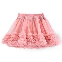 Wholesale Girls Tutu Skirts Patterns - New Pattern Girls Tutu Skirt Dust Pink Chiffon Ruffle Baby Girls Tutu Clothing Summer Girls Party Skirt Pattern Pettiskirt