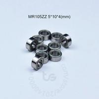 Wholesale 4mm steel ball - MR105ZZ bearing 10pcs Metal Sealed Miniature Mini Bearing Free shipping MR MR105ZZ 5*10*4mm chrome steel deep groove bearing