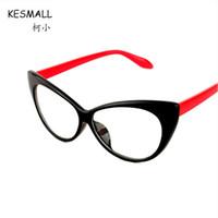 9584d56bf54f0 KESMALL Nova Marca de Moda Cat Eye Óculos de Armação Mulheres Cor Preta  Armações de Óculos Ultra-claros Lente Clara Eyewear XN531