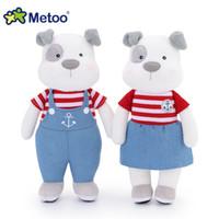 cute baby girl dolls 2018 - 1 Pcs 31cm Toys Girl Metoo Soft Cartoon Animal Couple Dog Stuffed Kawaii Lovely Cute Dolls For Kids Baby Christmas Birthday Gift