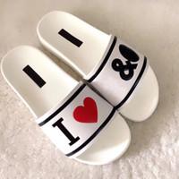 розовые черные сандалии оптовых-Модные босоножки Slide причинно-следственные Летние тапочки-тапочки на резинке тапочки женские Классические Fenty White Black Letter тапочки женские