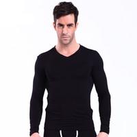 ingrosso solo uomini vestiti-Abbigliamento Uomo Intimo Termico Mutandoni Top modali morbidi Uomo Caldo Pigiama 2018 Moda inverno Sottocamicie Tops Only