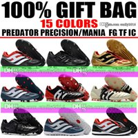 Wholesale Precision Lights - Wholesale Drop Shipping Predator Precision FG Soccer Cleats Turf Mens TF IC Indoor Soccer Shoes Predator Mania Champagne FG Football Boots