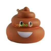 Wholesale poo soft toy - Squishy Poo 7*6.5cm PU Slow Rebound Simulation Cake Kawaii Rainbow Shining Crazy Poo Pendant Soft Squishy Toys