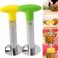Wholesale carton package packaging - 3 Colors Pineapple Corer Slicer Cutter Peeler Stainless Steel Kitchen Tool with Carton Packaging EEA364 60pcs