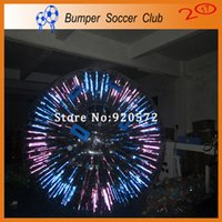 Wholesale Free One Pump Dia M Inflatable Light Zorbing Ball Inflatable Glow Zorb Ball Shinning Inflatable Zorb Ball