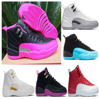 Wholesale green dynamics - 2018 new 12 XII women Dark Purple Dust university Blue GS barons Dynamic Pink ovo white Hyper Violet ball Shoes Sneaker