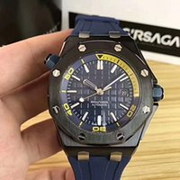 Wholesale level automatic - top-level high-end luxury watch, royal oak watch, super night light, men's automatic mechanical watch.All-natural army color rubber band