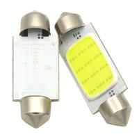 festoon led 31mm araba ampulleri toptan satış-Araba styling 31mm / 36mm / 39mm 12 V Festoon LED Araba Ampul Park CANBUS C5W COB LED BOYUTU İç Beyaz SMD Ampul Okuma ışıkları