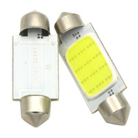 Wholesale 39mm Festoon - Car styling 31mm 36mm 39mm 12V Festoon LED Car Bulb Parking CANBUS C5W COB LED SIZE Interior White SMD Bulb Reading lights