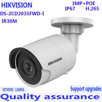 Wholesale ip camera outdoor wdr - HIKVISION DS-2CD2035FWD-I 3MP Mini ultra low light outdoor  safety network IP camera POE, WDR, 30m infrared CCTV