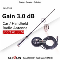 Wholesale Ham Radio Antennas - NL-770S UHF VHF Dual Band Mobile Car Antenna for Car Walkie Talkie BJ-218 MP320 Ham Radio Baofeng UV-9R UV-5R BF-888S UV-82