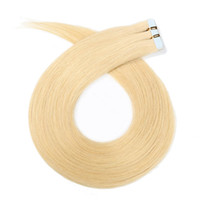 Wholesale ash blonde human hair extensions - Light Ash Blonde Tape in Human Hair Extensions Showjarlly 20inch Invisible Silky Straight Human Remy Tape on Remy Hair Extensions