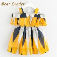ropa de estilo bohemio para niños. al por mayor-Bear Leader Girls Dress 2017 Nuevo estilo bohemio vestido de princesa gasa diseño de retazos para bebés vestido de los niños ropa