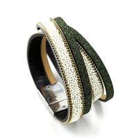 kunstlederarmband armbandmanschetten großhandel-Mode Frauen Wrap Faux Multilayer Leder Armband Stulpearmband Armband Hand Schmuck Für Frauen Armbänder Armreifen