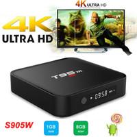 Wholesale Pre Set - T95M Android 7.1 TV Box Amlogic S905W Quad Core KD 17.3 Pre-installed 4K*2K 1G 8G HD WiFi Streaming Smart Set-top Media Player PK X96 Mini