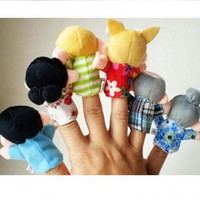 Wholesale baby children play doll for sale - Group buy Fun Play House Toy Finger Doll Puppet Children Plush Educational Toys The Lovely Family Baby Comfort Gift yc WW